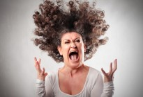 WOMAN-hair raising-freakout