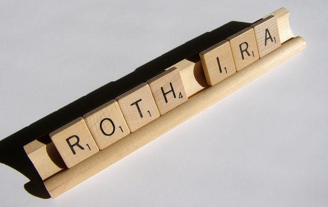 Roth IRA Scrabble tile holder